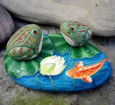 New Garden Ideas Diy Landscaping Hacks 41 Ideas Frog Rock, Pierre Decorative, Art Pierre, Carpe Koi, Garden Illustration, Rock Decor, Hobby Photography, Pet Rocks, Rock Design