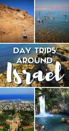 ISRAEL TRAVEL: Planning to travel in Israel? Why not spend some time exploring the country! Here's a look at some fun day trips in Israel including: Masada, the Dead Sea, Jaffa, Banias Nature Reserve, Oh The Places You'll Go, Places To Travel, Places To Visit, Voyage Israel, Israel Travel, Israel Trip, Israel Tours, Visit Israel, Holy Land