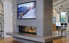 Direct Vent Fireplaces | Modern Fireplace Photo Gallery by Ortal