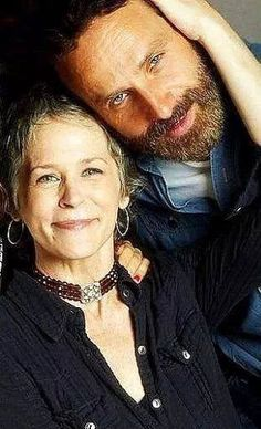 Melissa McBride and Andrew Lincoln
