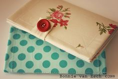 Living life creatively...: Tutorial : quick and easy fabric notebooks