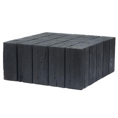 Shop Hamali Block Coffee Table Charred at Interiors Online. Exclusive High End Furniture. Interiors Online, Reclaimed Timber, Recycled Wood, Wood Pieces, Outdoor Furniture, Outdoor Decor, Teak, Cool Designs, Furniture Design