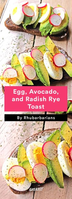 5. Egg, Avocado, and Radish Rye Toast  #greatist http://greatist.com/eat/radish-recipes