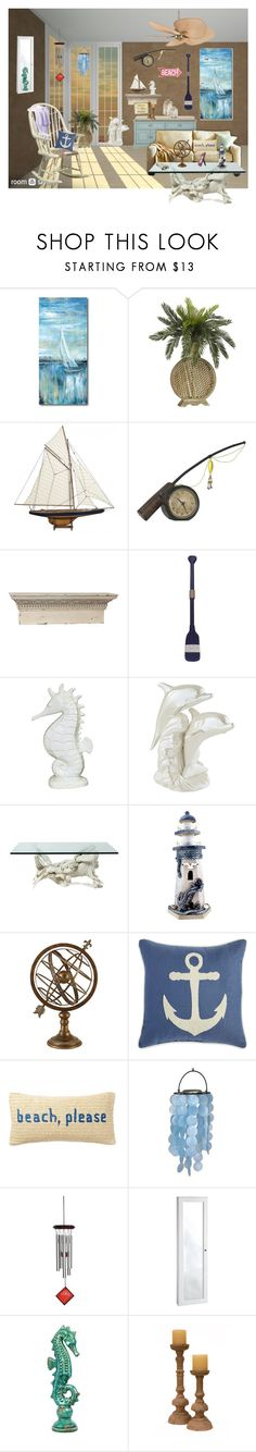 """""""Beach Home"""" by xoxmammaxox ❤ liked on Polyvore featuring interior, interiors, interior design, home, home decor, interior decorating, Ethan Allen, Courtside Market, Authentic Models and Sterling Industries"""