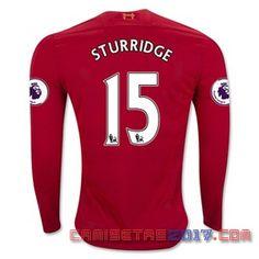 Camiseta manga larga Sturrdige Liverpool 2016 2017 primera