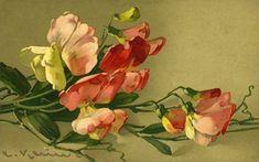 ОНЛАЙН коллекция живописи — Акварели Катарины Кляйн. | OK.RU