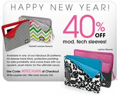 Get a tablet, kindle or laptop for Christmas? Keep it safe with a mod. Tech Sleeve. #modstraps.com