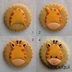 animales de la selva galletas decoradas chicuqui.com Cookies For Kids, Fancy Cookies, Iced Cookies, Sugar Cookies, Cookies Et Biscuits, Cookie Frosting, Royal Icing Cookies, Cupcakes, Cupcake Cookies