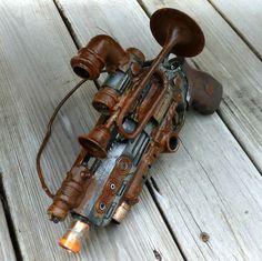 Steampunk  TESLA gun Victorian scifi pistol by oldjunkyardboutique, $39.99