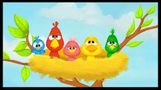 Sie waren 5 im Nest French Teaching Resources, Teaching French, French Poems, French Numbers, Kindergarten Songs, French Kids, French Education, Core French, Chore Chart Kids