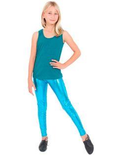 American Apparel Youth Shiny Legging $25.00 #bestseller