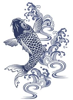 Koi Fish Discover I described a carp in Japanese atmosphere of a picture koi japanese wood block Japanese Drawings, Fish Drawings, Japanese Art, Art Drawings, Japanese Sleeve, Koi Art, Fish Art, Carpe Coi, Koi Kunst