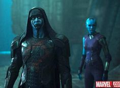 Lee Pace (the Pie-maker!) and Karen Gillan (Amy Pond) in Guardians - They were fantastic! :)