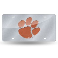 Clemson Tigers NCAA Bling Laser Cut Plate Cover