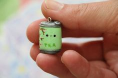 Cute Iced Tea Can Charm by SarahsSweetCharms on Etsy, $4.50
