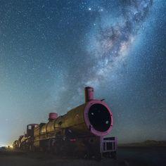 Salar de Uyuni a noite - fotógrafo Daniel Kordan;