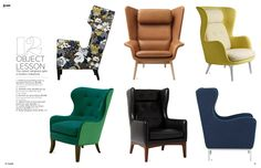 Wing Back Chairs -- September 2013 - Lonny Magazine - Lonny