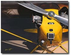 Morning With the dawn's early light streaming in, this 1946 Piper Cub is turned into polished gold. The propeller glistens on the as she beckons her pilot to awaken and they take to the sky. Limited edition of 400 signed and numbered. Piper J3 Cub, Piper Aircraft, Hole In The Sky, Light Sport Aircraft, Bush Plane, Contrast Lighting, Aircraft Photos, The Right Stuff, Jet Plane