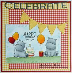 Marianne's Craftroom: Hippo Birthday