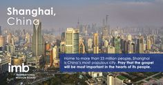 #Pray that the gospel will be most important in the hearts of the people of Shanghai, China