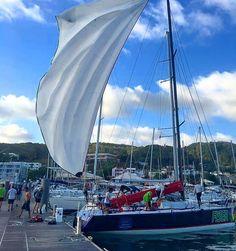 How to dry a spinnaker  #Farr40worlds #Farr40 #Farr40class #spinnaker #Martinique #ig_martinique #ig_caribbean_sea #ig_caribbean #regatta #Keepsailing #Sailing #sailboat #boat #bluesky #FarrWestIndies #Fwi #Fun #Sun #Sea #sealife by farr_west_indies