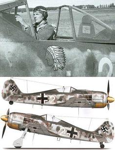 Julius Handel 13./ JG 54 Fw 190 A-8  KIA 23 Sept 44