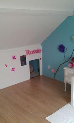 Schuine wand optie 4: een nis/ verstopplekje Girls Bedroom, Bedrooms, Kids Room, Toddler Bed, New Homes, Blog, Diy, Furniture, Attic