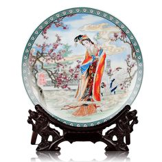Jingdezhen Ceramics Chinese beauty ladies hanging decorative plate classical decoration Home Furnishing living room  sc 1 st  Pinterest & Ceramic Decorative Plate Hanging Plate | Hanging plates and Products