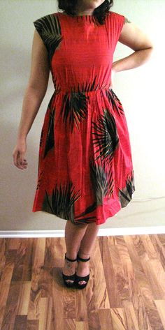Red Rockabilly Dress by MercurialWitches on Etsy