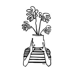 plants drawing , Container Gardening / plants indoor plants aesthetic plants outdoor plants in living room house plants plants photography plants drawing plants i art garden indoor plants Sharpie Drawings, Easy Drawings, Tattoo Drawings, Pencil Drawings, Arte Sharpie, Sharpie Zeichnungen, Plant Sketches, Minimal Art, Minimalist Drawing