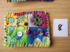 Patchwork brooch number 8 by MrsBellybuttonsfluff on Etsy, $12.00
