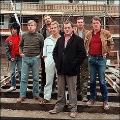 "Legendary ""brickies"" from ""Auf Wiedersehen, Pet"" British Sitcoms, British Comedy, English Comedy, Drama, Little Britain, My Childhood Memories, 90s Childhood, Uk Tv, Comedy Tv"