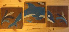 Delphin String Kunst  3 Platten von StringKits auf Etsy