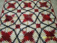 Spectacular pineapple quilt! 2bp.blogspot.com