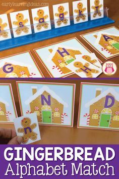 Here is a free gingerbread alphabet activity printable that is great for teaching early literacy activities in preschool, pre-k, and kindergarten. A great Christmas, holiday or gingerbread theme hands-on literacy center activity to help you teach letters and letter sounds