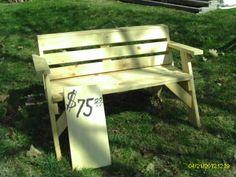 lawn/garden bench $75.00
