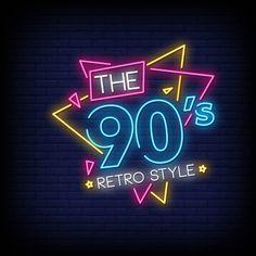 The retro style neon style text Premium Vector Neon Aesthetic, Aesthetic Images, Neon Design, Logo Design, Neon Words, Retro Wallpaper, Neon Light Wallpaper, Neon Logo, Retro Stil