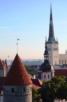 Looking towards St Olaf's church - Oleviste Kirik #Tallinn