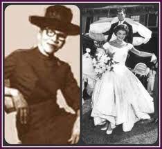 African-American fashion designer Ann Lowe designed the wedding dress of Jacqueline Bouvier, the bride of future president, Senator John F. Kennedy
