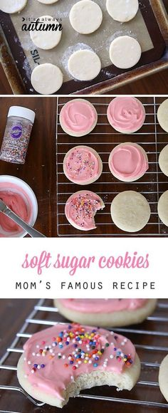 The Best Soft Sugar Cookie + Cream Cheese Frosting Recipe plus 25 more of the most pinned cookie recipes on Pinterest