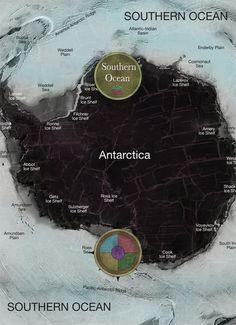 Southern Ocean - map