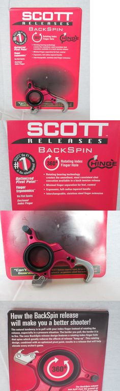 Release Aids 181303: New Scott Archery Backspin 3 Finger Release Red And Black 6006-Re-3 -> BUY IT NOW ONLY: $134.99 on eBay!