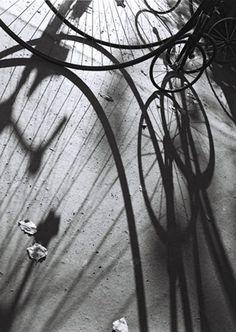 Stanko Abadžic - Play of Light, Prague, bicycle, shadows, black and white
