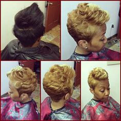 Short blond cut