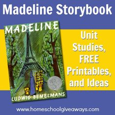 Madeline Storybook Unit Studies, FREE Printables and Ideas - Homeschool Giveaways Social Studies Notebook, Teaching Social Studies, All About Me Activities, Book Activities, Preschool Printables, Free Printables, Teaching Us History, History Education, Madeline Book