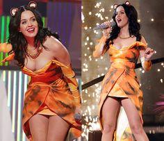 Katy performing on the XFactor UK