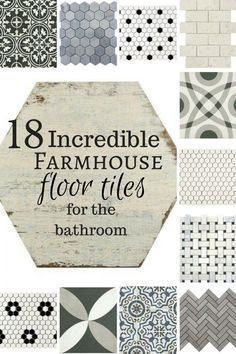 18 Incredible farmhouse floor tiles for the bathroom! Oh my! If I could have all these in my home I would! #farmhouse