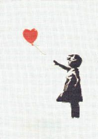 Banksy Cross-stitch