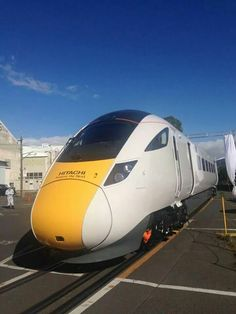 Part of the Intercity Express Program for Great Western, Hitachi reveals the first of 3 new pre-series trains in Kasado Japan which will be shipped and tested in the UK. Once the pre-series is complete, all other trains will be built in the UK. Great Western, Dexter, Locomotive, East Coast, Taiwan, Art Work, Britain, Westerns, Buffet