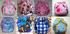 Diaper of the Month AIO One Size Cloth Diaper- Boy or Girl Prints-by Los Chiquitos by loschiquitos on Etsy